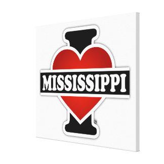 I Heart Mississippi Canvas Print