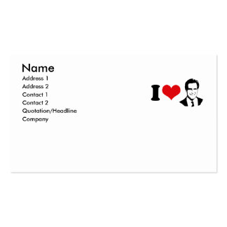 I HEART MITT ROMNEY 2012 BUSINESS CARD TEMPLATES