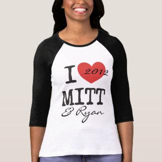 I heart Mitt Romney and Paul Ryan 2012 T-Shirt