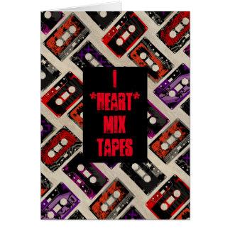 I Heart Mix Tapes - Custom Card