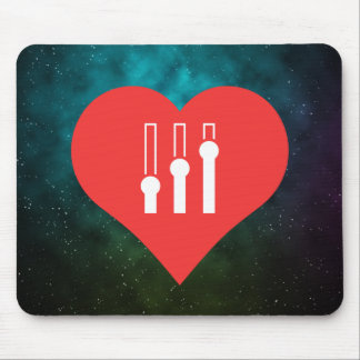 I Heart Mixing Consoles Icon Mouse Pad