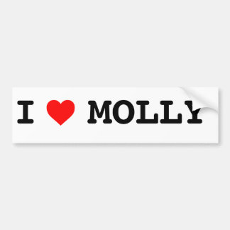 I heart Molly Bumper sticker