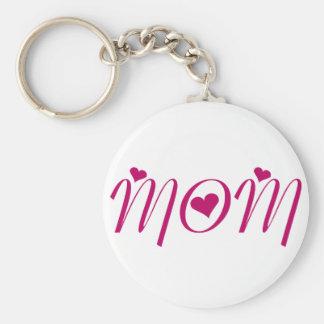I Heart MOM! by Celeste Sheffey Basic Round Button Key Ring