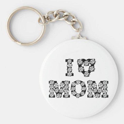 I Heart Mom Key Chain