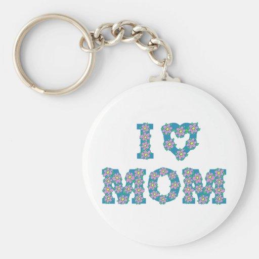 I Heart Mom Keychains