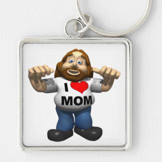 I Heart Mom Keychain