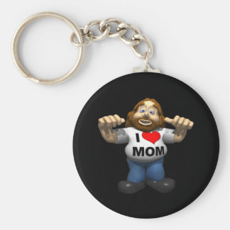 I Heart Mom Key Chains