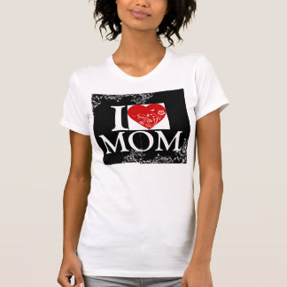 I HEART MOM shirt with cool design on both sides