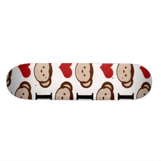 I Heart Monkeys I Love Monkey Valentines Gift Skateboards