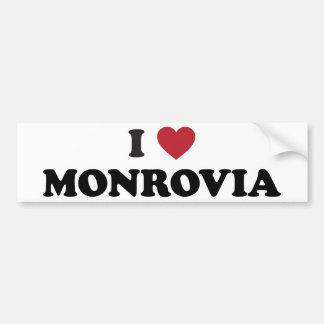 I Heart monrovia liberia Bumper Sticker