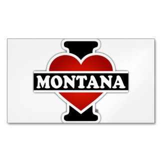 I Heart Montana Magnetic Business Cards