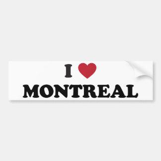 I Heart Montreal Canada Bumper Stickers