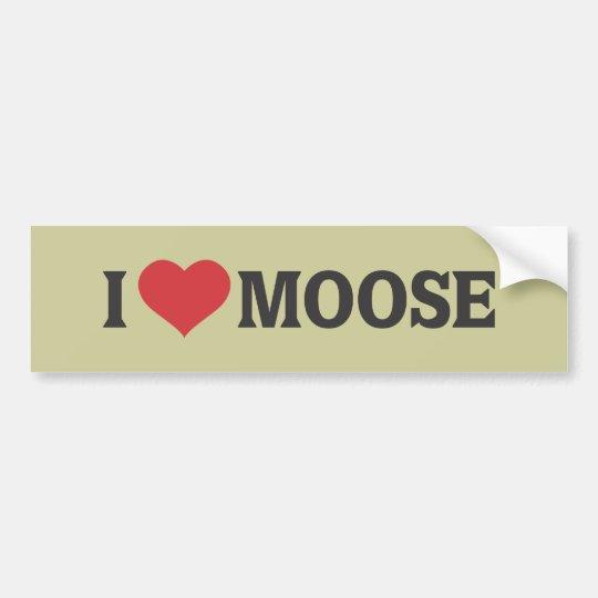 I Heart Moose Bumper Sticker