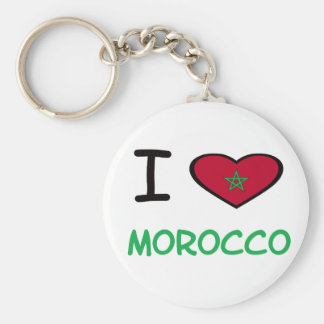 I Heart Morocco Basic Round Button Key Ring