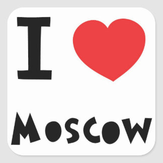 I heart Moscow Square Sticker