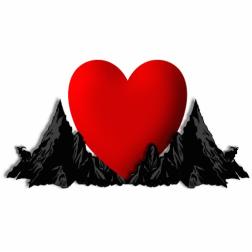 I Heart Mountains Sculpture Photo Cut Outs