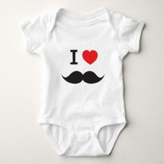 I Heart Moustache Baby Bodysuit
