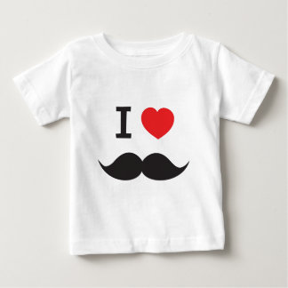 I Heart Moustache Baby T-Shirt