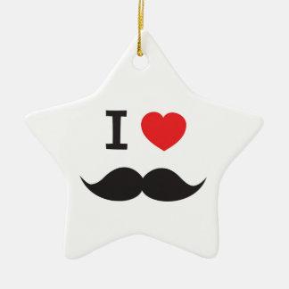 I Heart Moustache Christmas Ornament