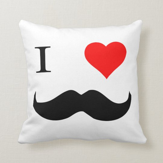 I Heart Moustaches Cushion