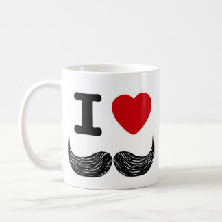 I Heart Moustaches Coffee Mugs
