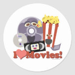 I Heart Movies! Round Sticker