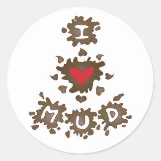 I Heart Mud Sticker
