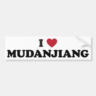I Heart Mudanjiang China Bumper Sticker