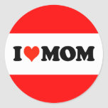 I Heart Mum Round Sticker