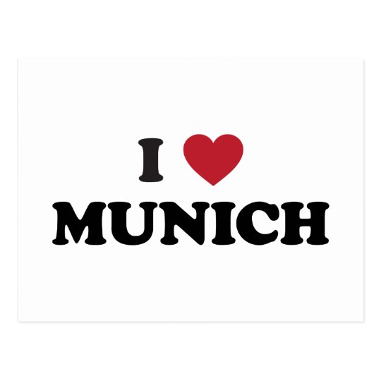 I Heart Munich Germany Postcard