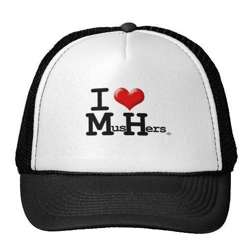 I Heart Mushers Hat