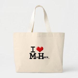 I Heart Mushers Jumbo Tote Bag