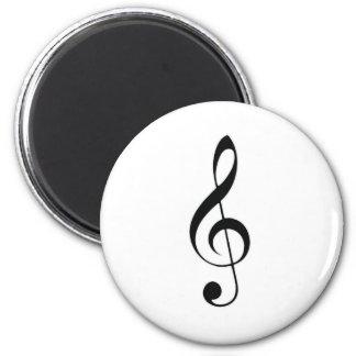 i heart music 6 cm round magnet
