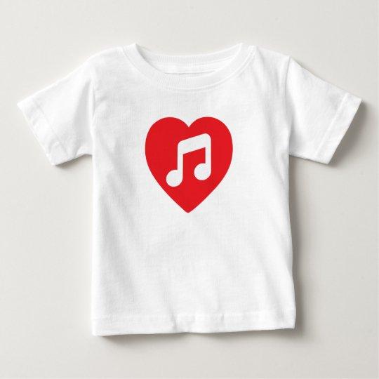 I Heart Music Baby T-Shirt