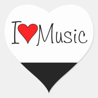 I heart music heart sticker
