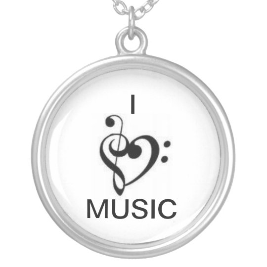 """I """"heart"""" Music Necklace"""