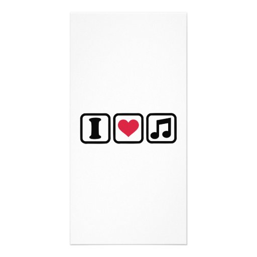 I heart music note picture card