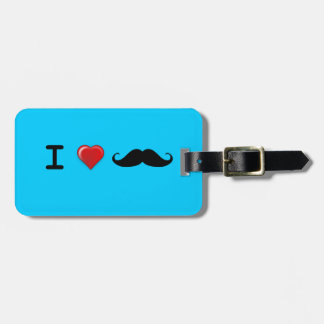 I Heart Mustaches Luggage Tag