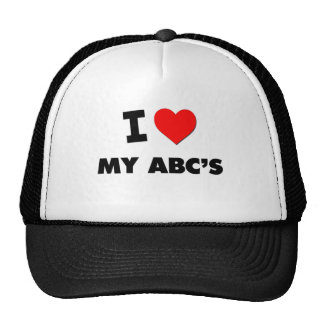 I Heart My Abc'S Mesh Hats