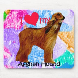 I heart my Afghan Hound Mouse Pad