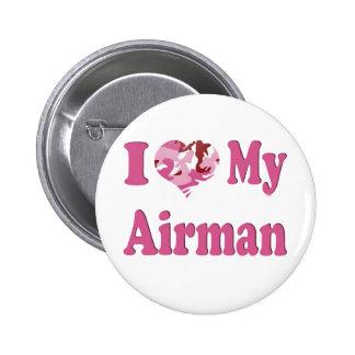 I Heart My Airman 6 Cm Round Badge