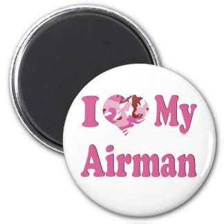I Heart My Airman 6 Cm Round Magnet