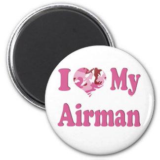I Heart My Airman Fridge Magnets