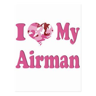 I Heart My Airman Postcard
