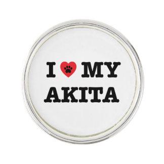 I Heart My Akita Lapel Pin