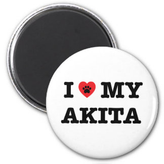 I Heart My Akita Magnet