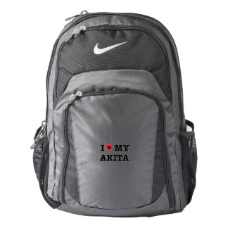 I Heart My Akita Nike Backpack