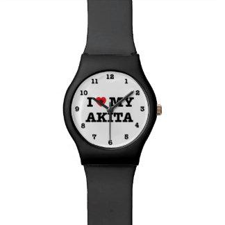 I Heart My Akita Numbered May28th Wrist Watch