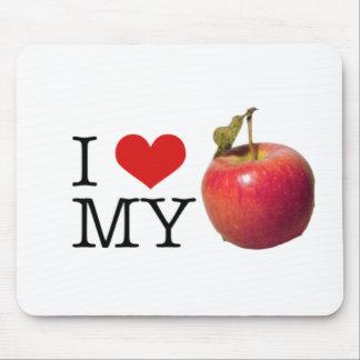 I Heart My Apple Mouse Mat