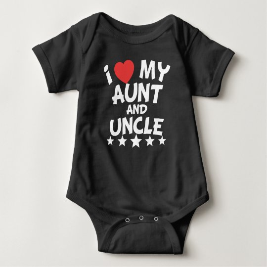 I Heart My Aunt And Uncle Baby Bodysuit